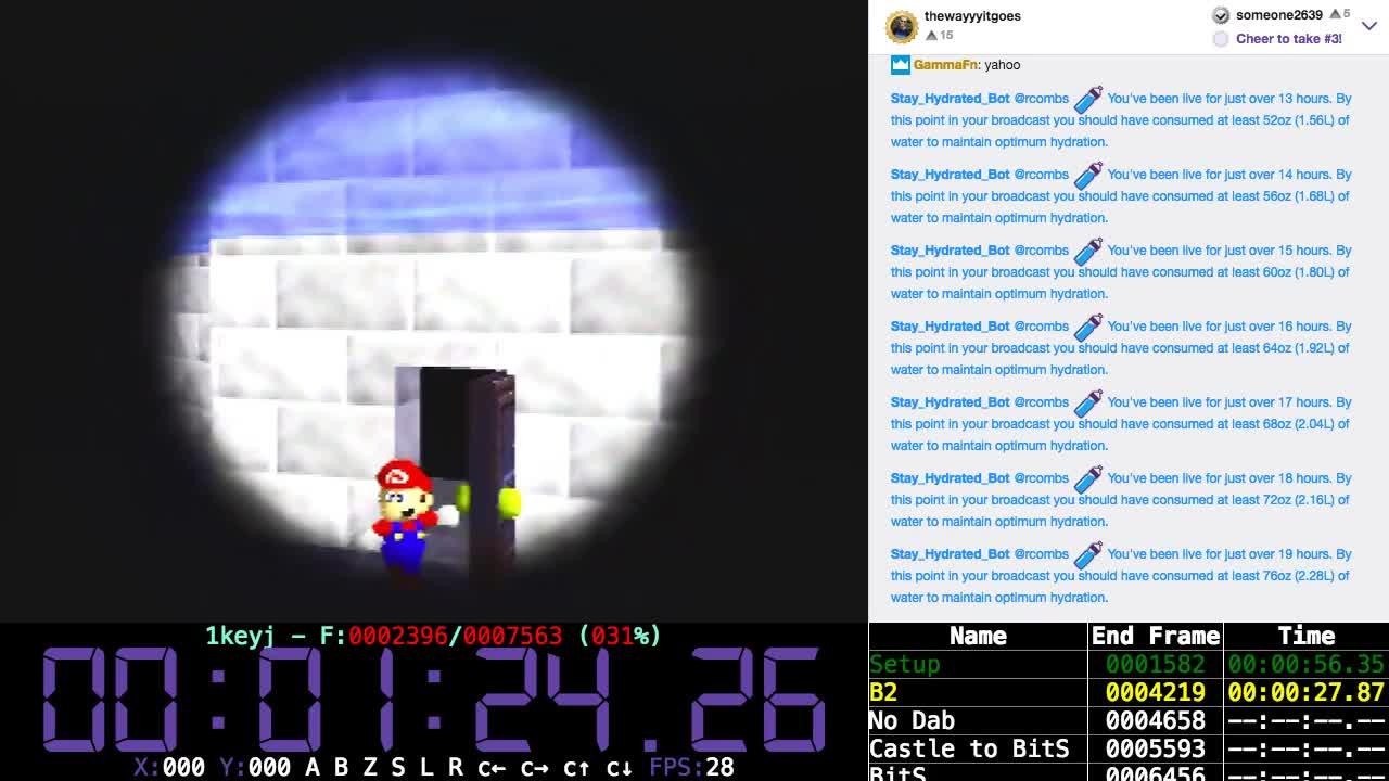 rcombs - Super Mario 64 - 1-Key TAS 3f Improvement (WR