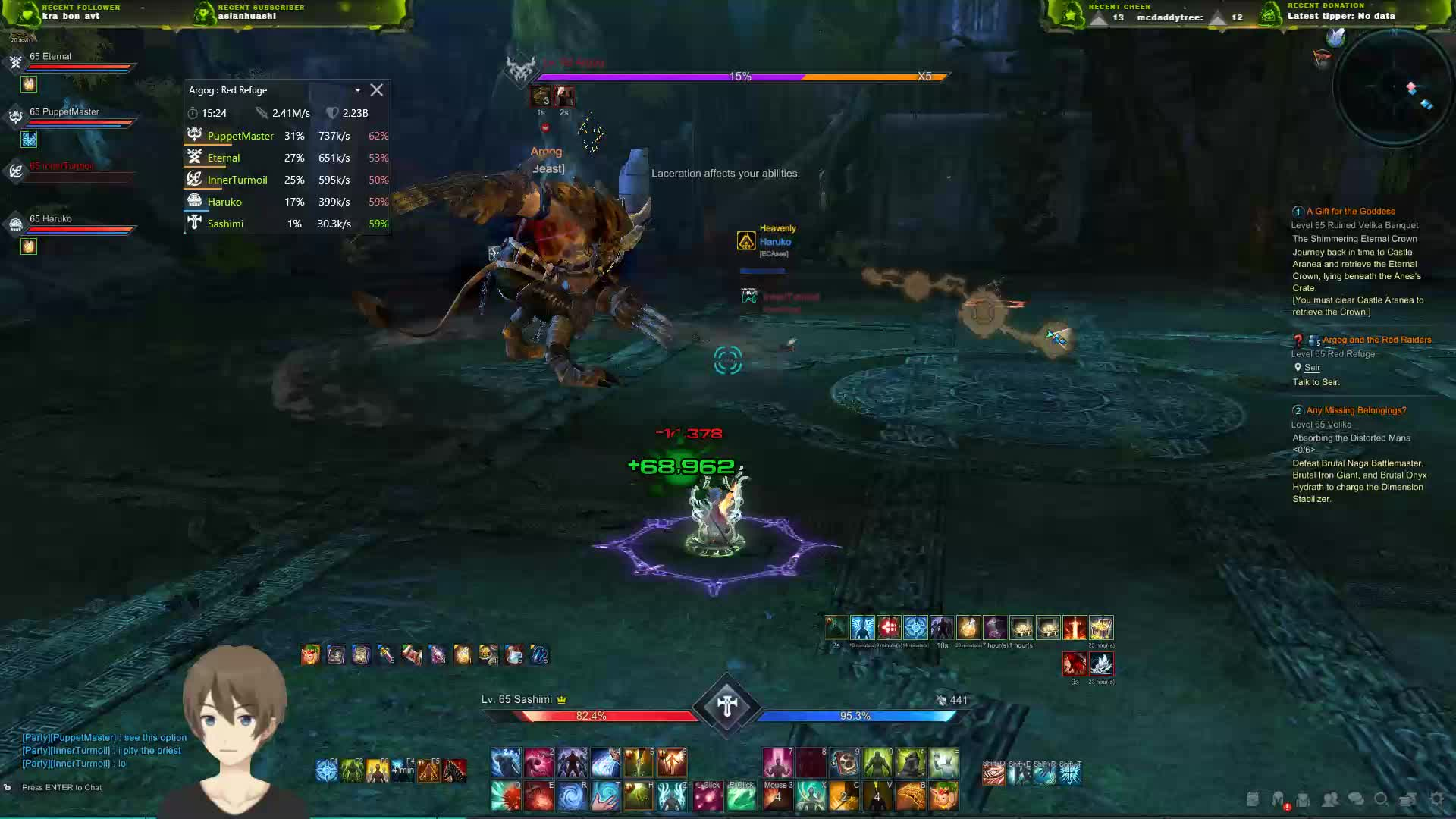 SEA/Day 9] Pug 439s with DPS meter !proxy !shinra !talent