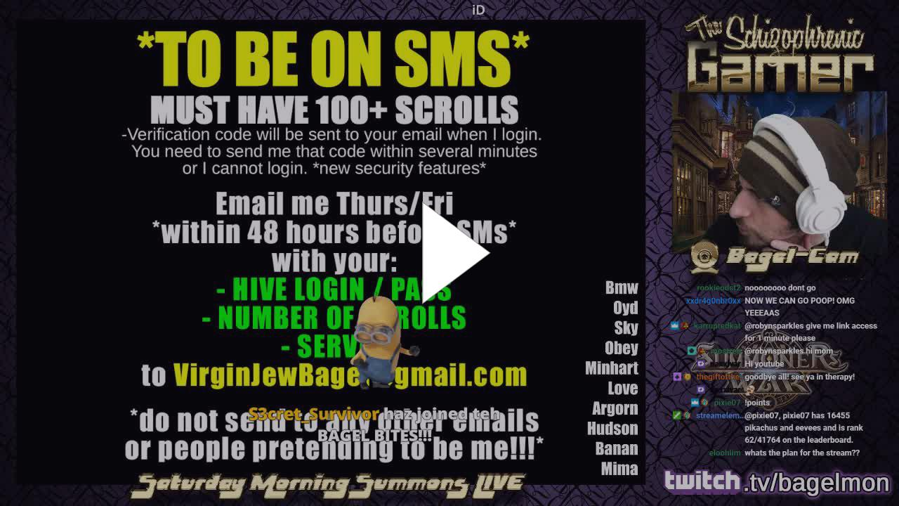 Bagelmon - SMS Live Today - Twitch