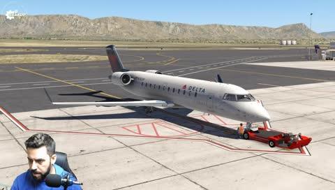 GearUpYt - X-Plane 11   CRJ-200 Delta Airlines   EEUU
