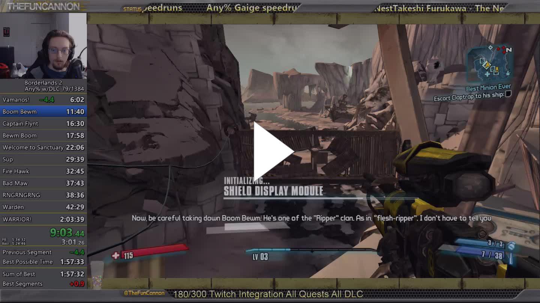 TheFuncannon - Any% Gaige speedruns - Twitch
