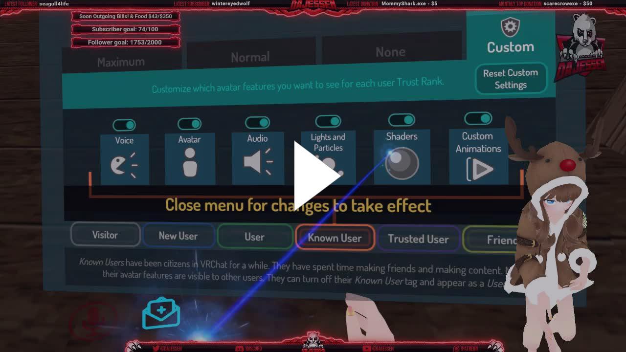 DaJessen - VRChat! 🌹 Werewolf event, than chill! 🐼 !discord