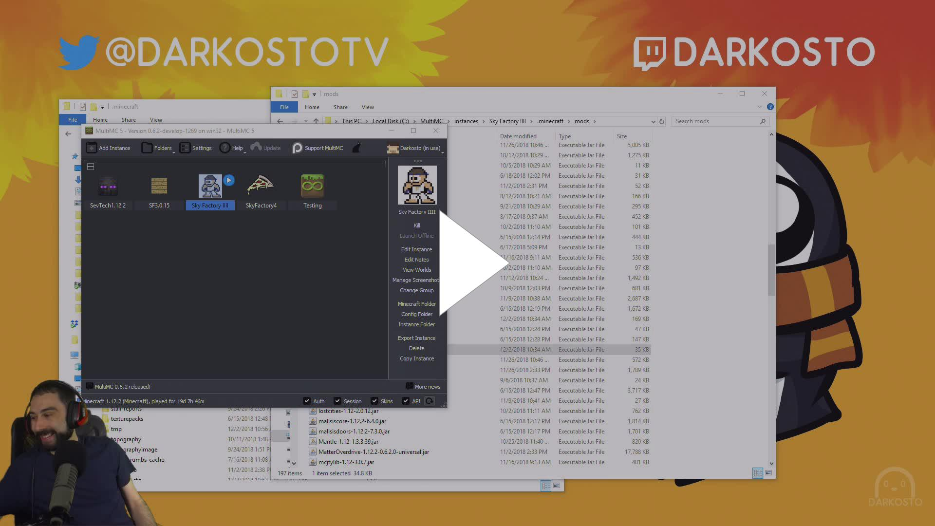 darkosto - The Making of SkyFactory 4 - Twitch