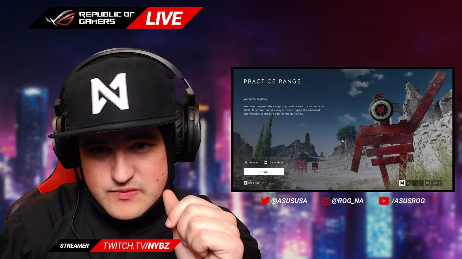 ASUSROG - ROG LIVE | #RTX ON - Battlefield V with Nybz - Twitch