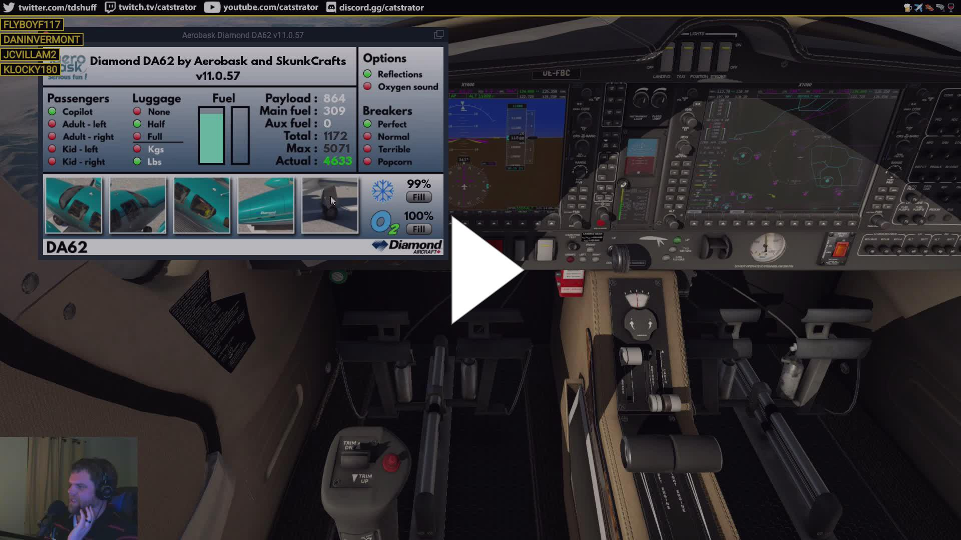 catstrator - The Griswald Family Plane | Aerobask Diamond DA-62