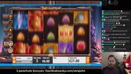 Hunting that 11.5 million jackpot. Slots on the side.