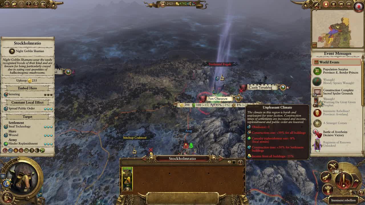 total war warhammer 2 climates