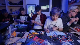 Building the LEGO Voltron with RISE singer Telle, Luke Holland, Viranda, and TJ Brown. Music stream maybe later !guests