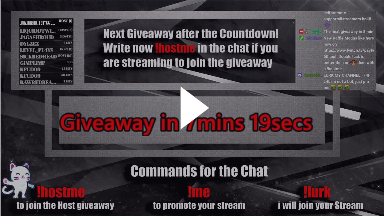 paytv50 - Host-Giveaways every 15min 24/7 join with !hostme
