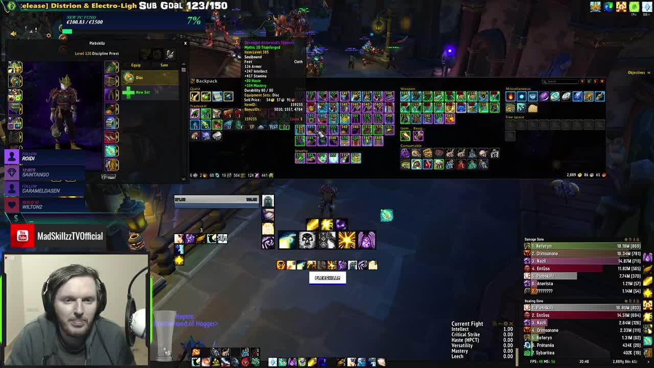 MadSkillzzTV - M+ for ALL Healers (Resto Shaman New Alt) (384 MW