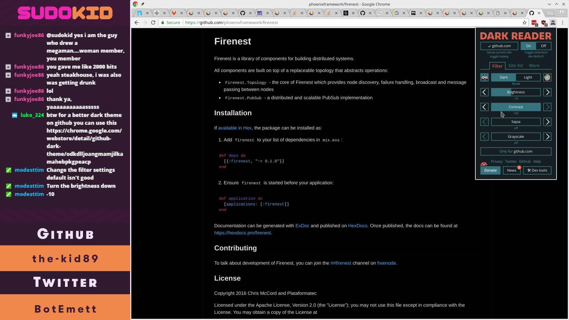 SudoKid - Hammering out some Elixir WebSocket stuff for Notify! - Twitch