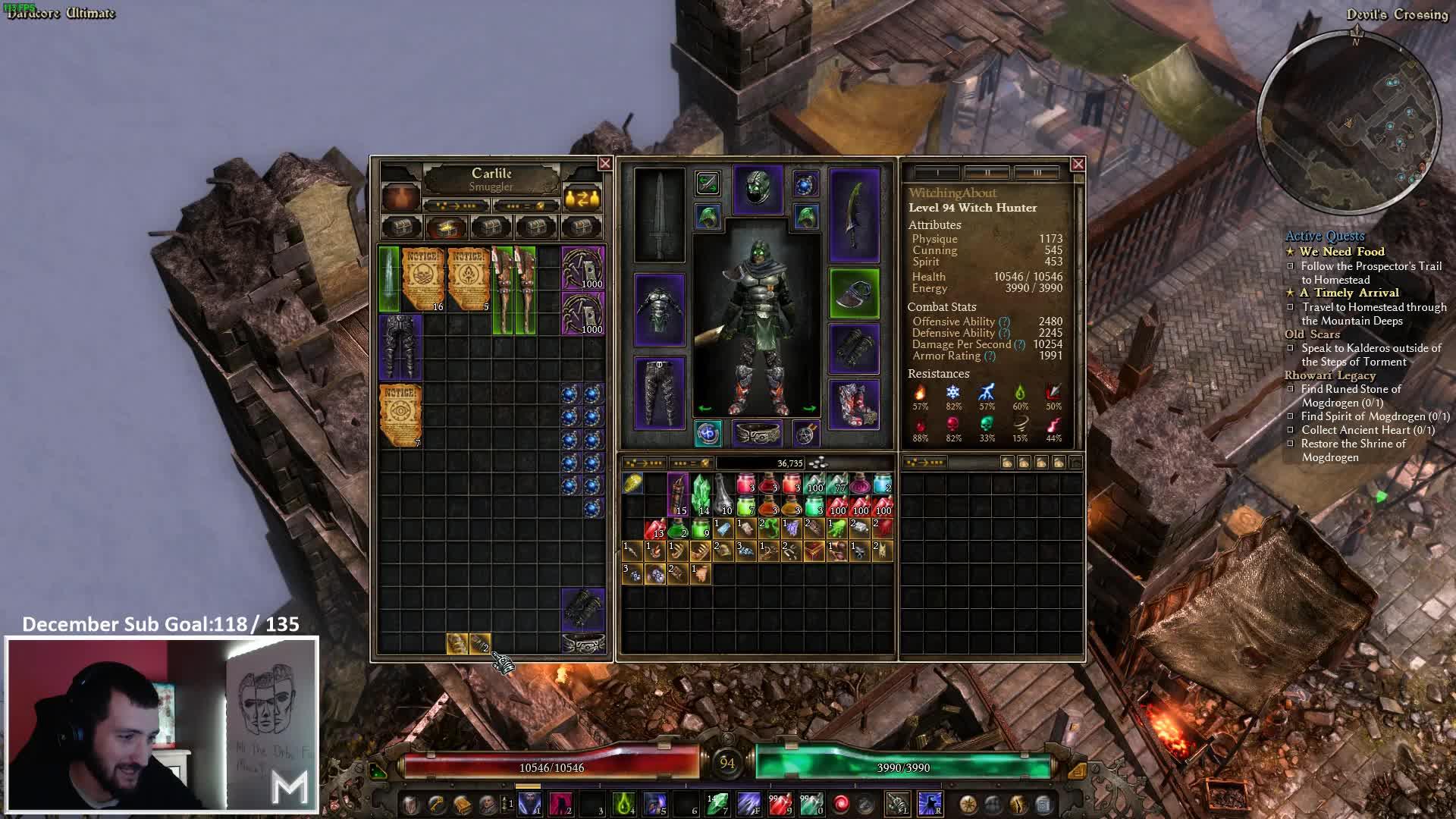 Malagant - HC Ult- Witch Hunter Theorycraft & Optimisation
