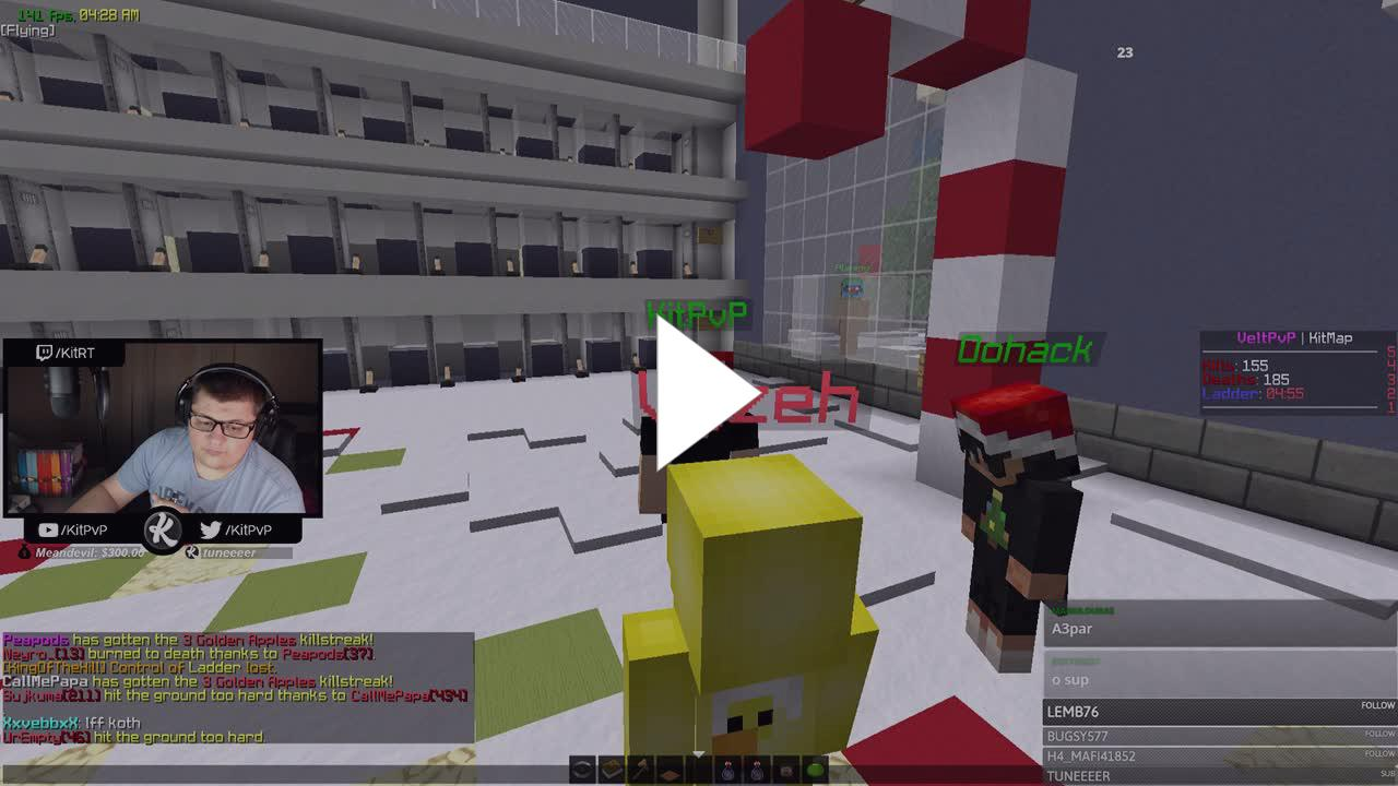 KitRT - Minecraft ⛏ Live PvP ⚔️ Action on VeltPvP   !kos