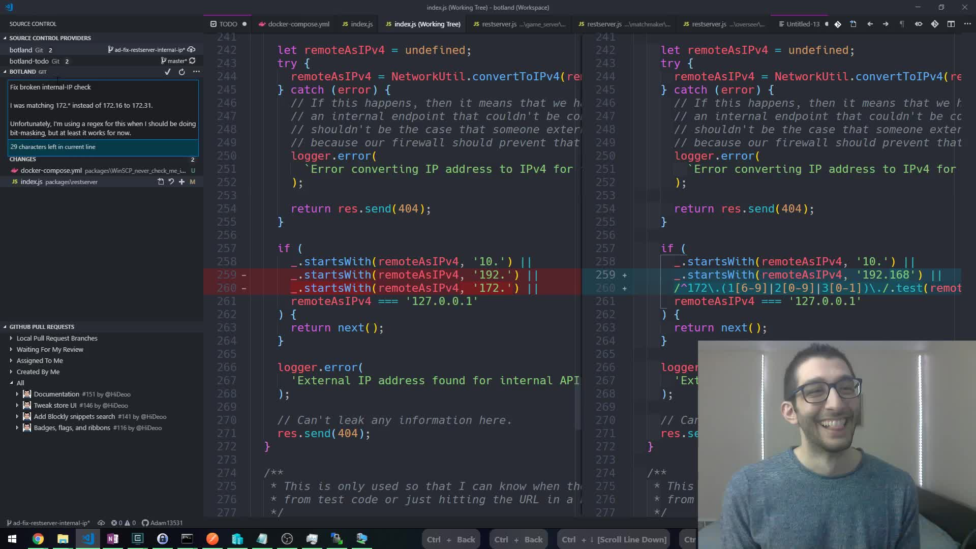 Adam13531 - Sick code, bro (day 608) - Twitch
