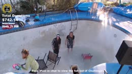 Mike Huncho throws toilet in POOL!