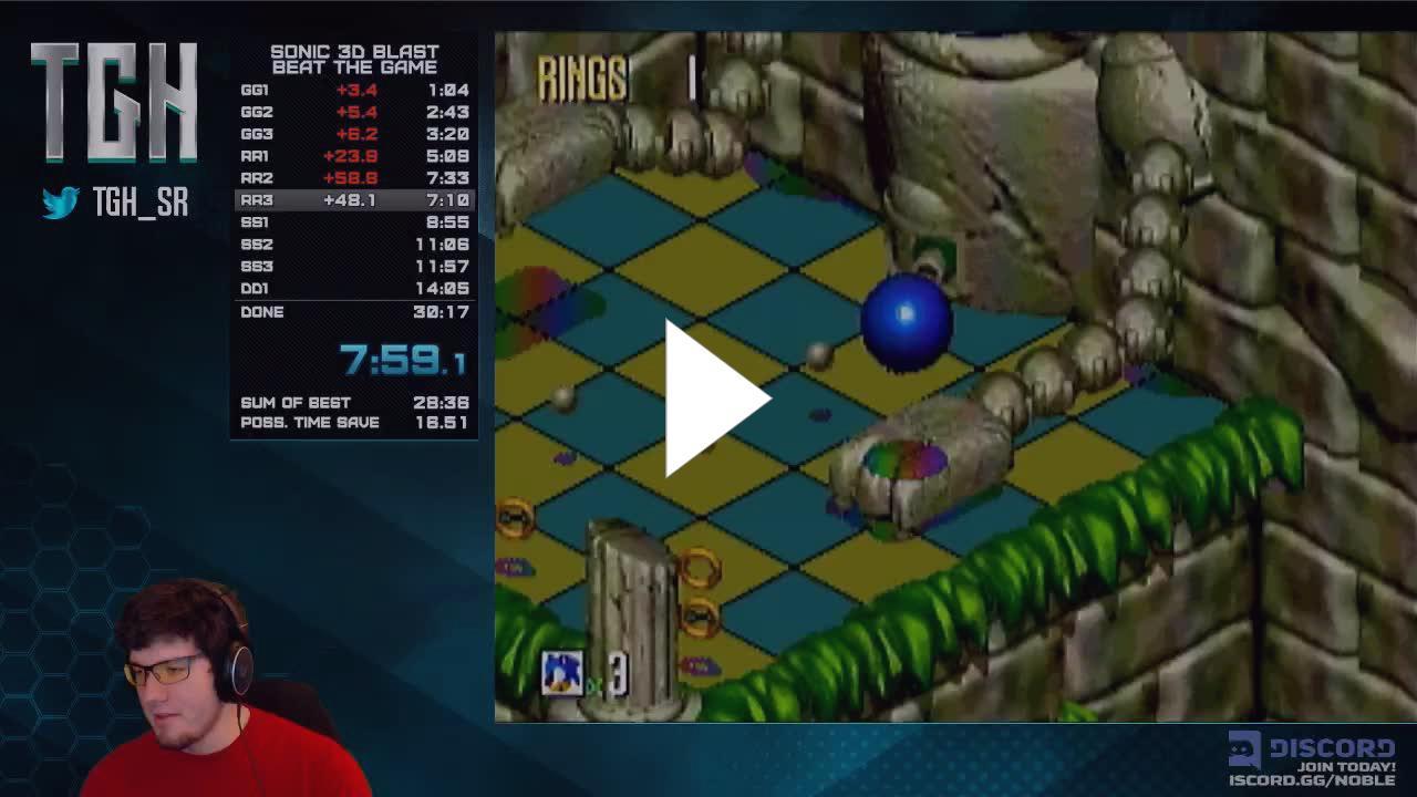TGH_sr - Sonic 3D Blast Any% for sub-30 - Twitch