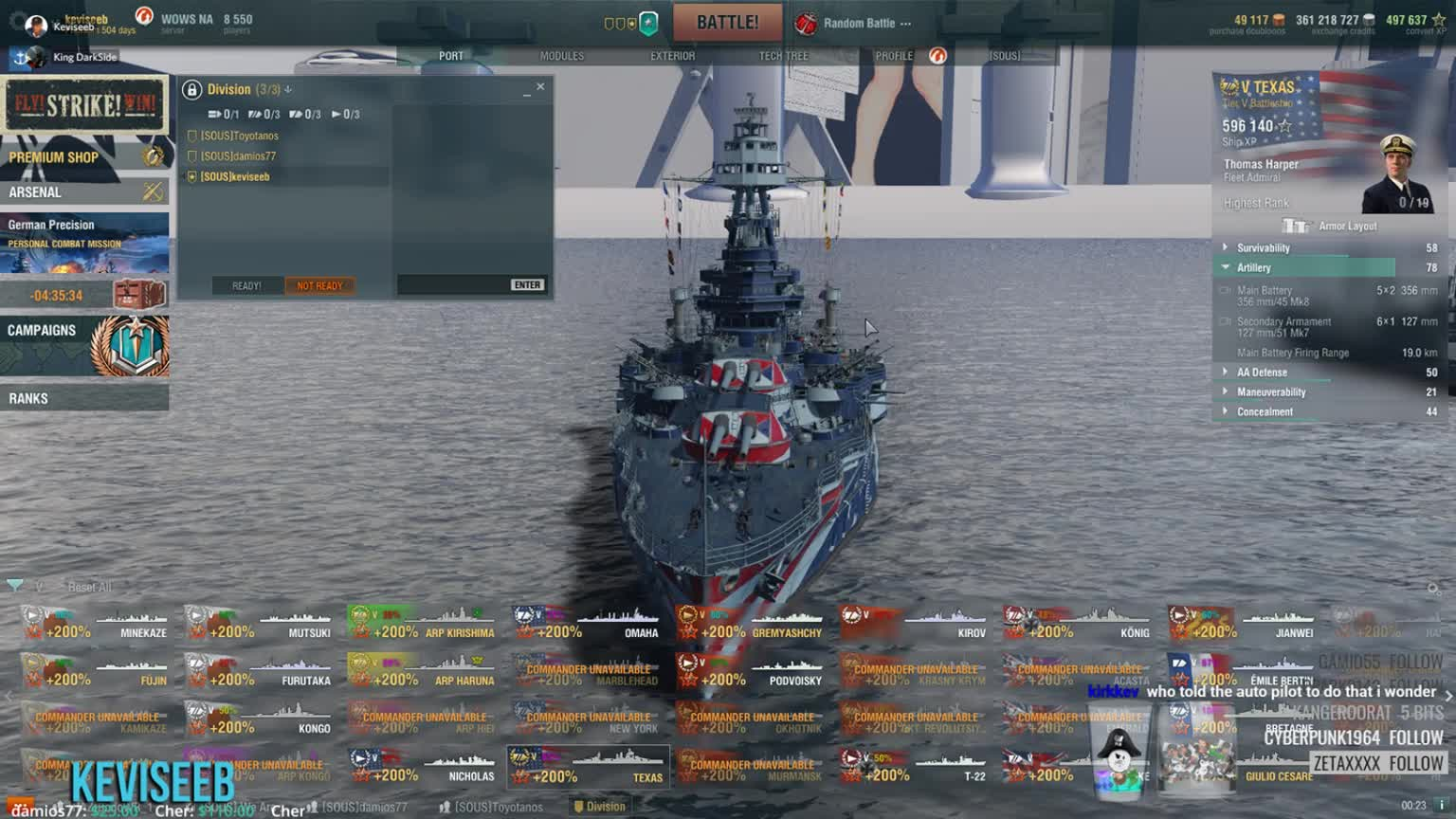 keviseeb - Keviseeb, Oldest Streamer NA, WOWS, DAMN THE (HAK