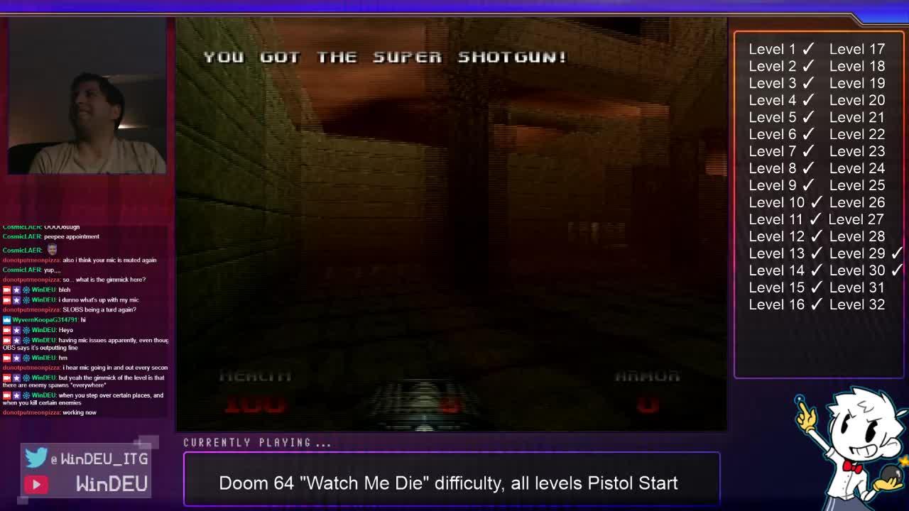 WinDEU - Doom 64 WMD Pistol Start levels !pistol - Twitch