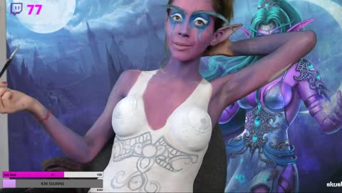 💋Body Paint 💋 TYRANDE DRUIDE ELFE DE LA NUIT !Youtube !Discord !instagram