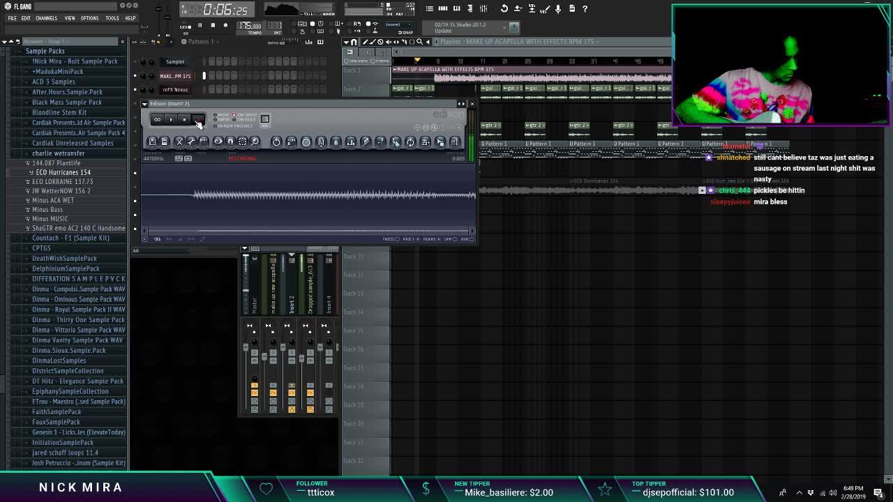 nickmira_ - Nick Mira Making Beats Live 2 28 19 - Twitch