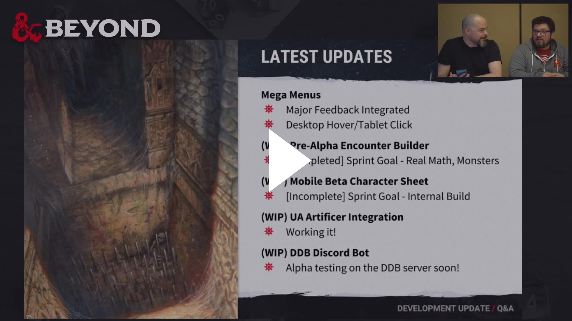 DnDBeyond - Dev Update from GaryCon, 9AM PT - Twitch