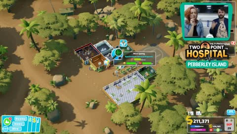 We play Two Point Hospital's BRAND NEW Pebberley Island DLC. It's an exclusive!