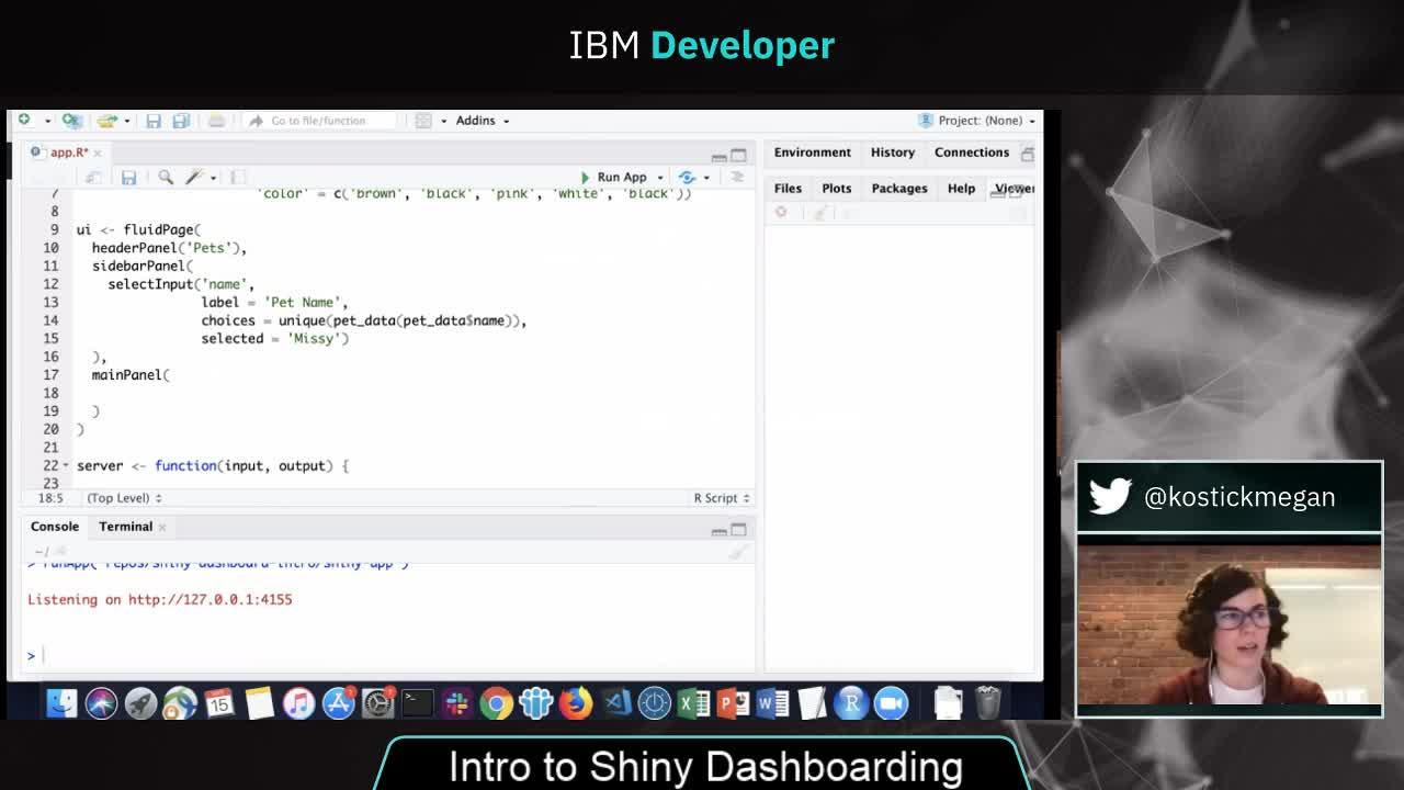 IBMDeveloper - Intro to Shiny Dashboarding | Celebrating our