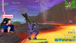 people with hamster balls in volcano