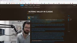 Talking Classic WoW News Re: AV