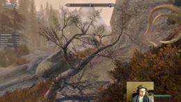 RiotAugustUwU - playing Skyrim.  I shout ice