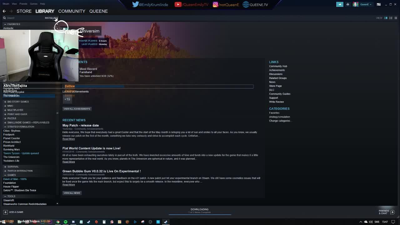 QueenE - Support | 👑QueenE 👑 | !merch !beginner - Twitch