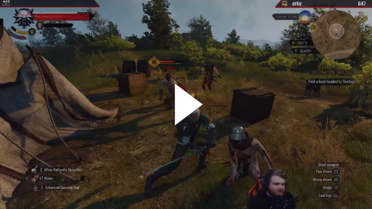 Death March] Witcher 3   Day 7   Witchers can't be sickboys