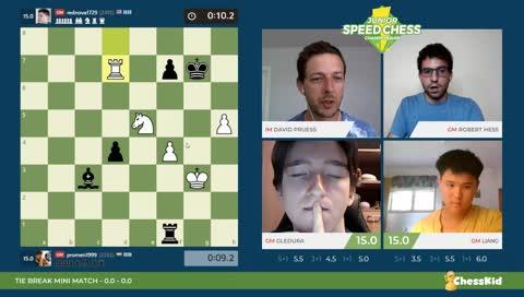Junior Speed Chess Championship - Gledura vs Liang