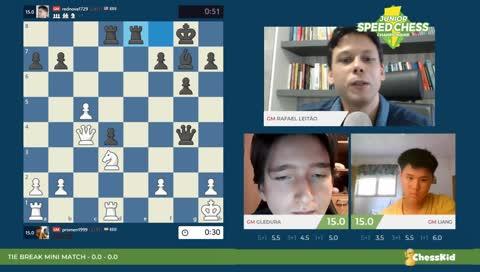JSCC 2019 | Gledura x Liang | GMs Leitão Milos | !jscc !xadrez !social !convidado