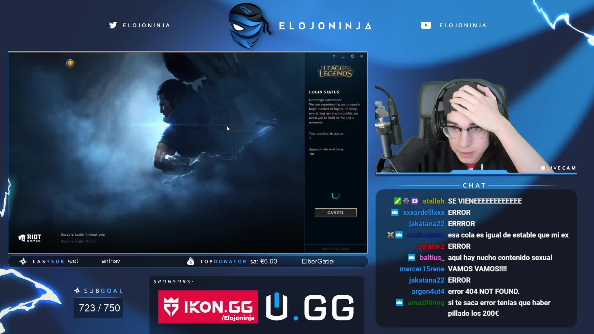 ElOjoNinja - massive F - Twitch