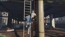 Nino takes Randy off the top ropes!