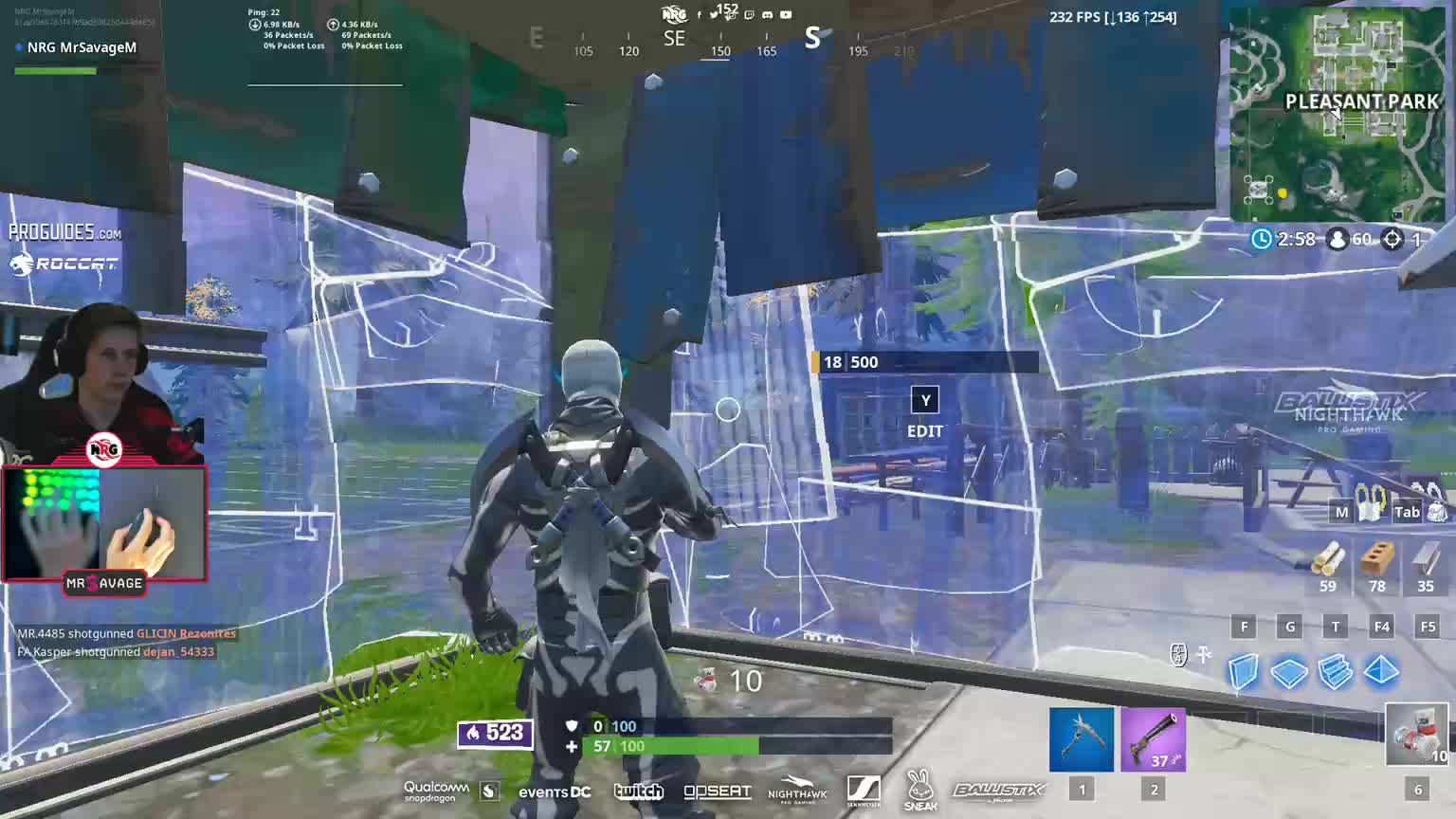 Savage gets sprayed with an smg    : FortniteCompetitive