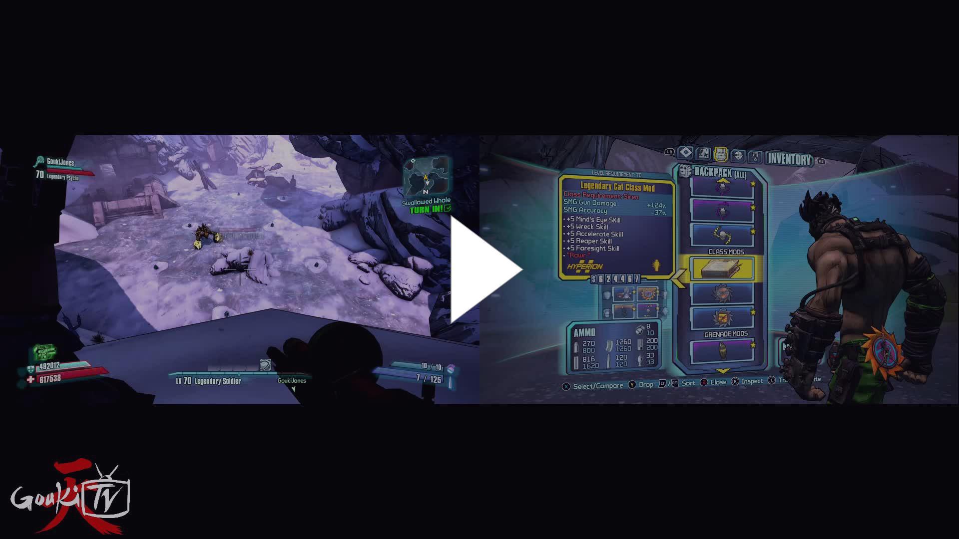 GoukiTV - Borderlands 2 Episode 74  OTW to LVL 80! UVHM