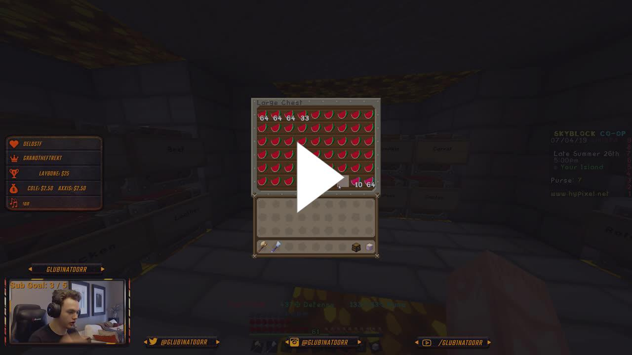 Glub1natoorr - Hypixel Skyblock! The grind to be the richest