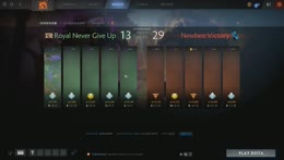 [RU] Newbee vs Royal Never Give Up BO1 | TI9 CN Qualifiers by @DroogTV