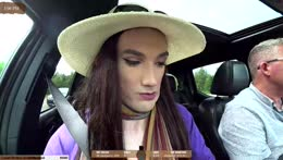 Crossdressing + Hitchhiking.. Thanks chat, you did this !crossdress