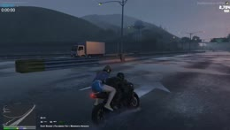 Tony Bike skills FTW between 2 trucks
