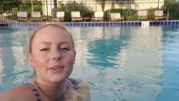 Evening Swim, Apartment Pool 💙🏊♀️ !Instagram