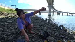 Mud crab hunting & fishing busan