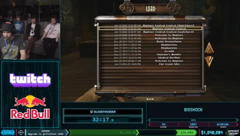 AGDQ Crashes during Bioshock run