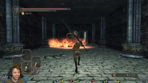 I missed you + SO excited to play today Dark Souls 2  Blind no spoils !defeated