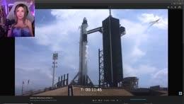 💜 watching the rocket launch!!!!!!