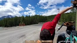 Cycling across Canada Day 14 - Location: Lake Louise, Alberta, CA !trip !trailer !youtube