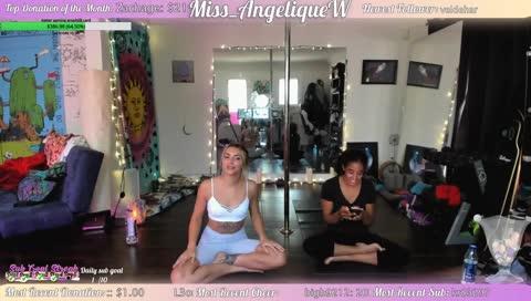 I'm shot but let's do yoga <3 w/ @mylovelyellie :) !sub