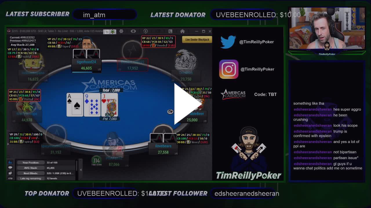 Tim Reilly Poker Twitch